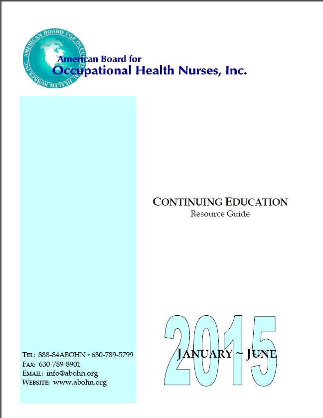 Continuing Education Guide Abohn Inc